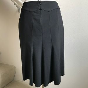 Elie Tahari Black Pencil Skirt with Flared Back